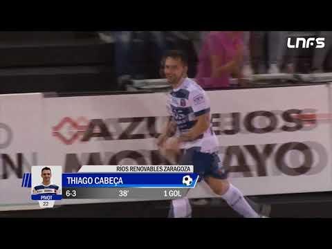 Thiago Cabeça gol, Ríos Renovables Zaragoza x Plásticos Romero Cartagena - 2017/18 - JR Sport