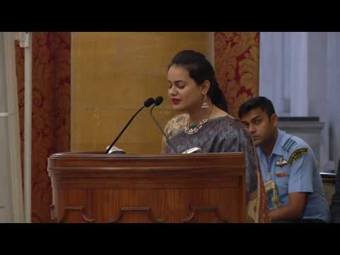 IAS officers of the 2016 batch share their training experiences with President Kovind