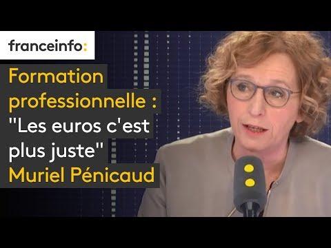 """Formation professionnelle : """"Les euros c'est plus juste"""" Muriel Pénicaud"""