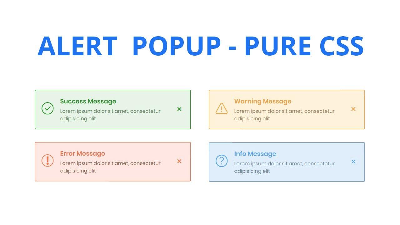 Pure CSS Alert Box Popup