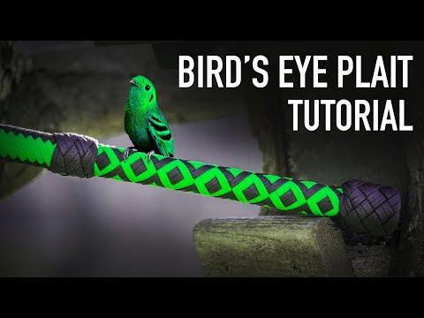 Bird's Eye Plait Bullwhip Handle | Nick's Whip Shop