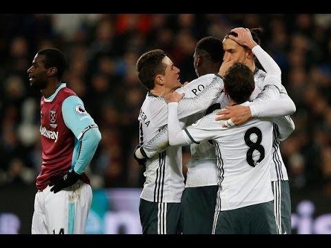 West Ham 0-2 Manchester United | GOALS: Mata, Ibrahimovic