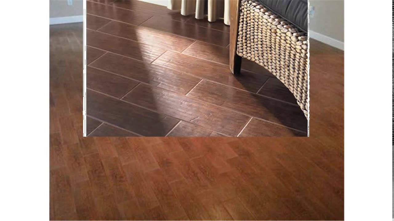 ceramic tile that looks like hardwood - YouTube