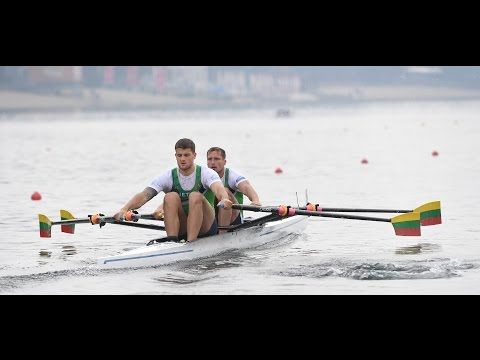 The Lithuanian men's double sculls on their post-Rio training