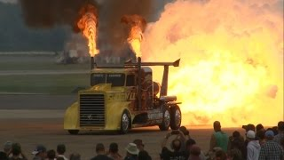Repeat youtube video 2014 NAS Oceana Airshow - Shockwave Jet Truck