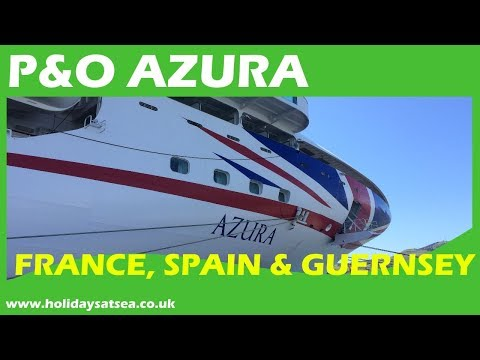 P&O Azura ship tour and cruise video