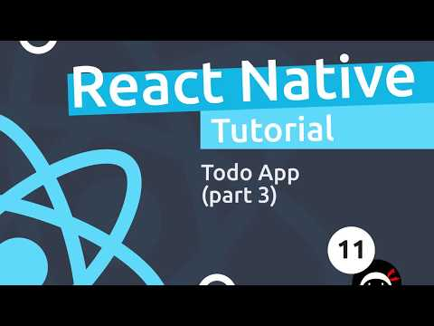 React Native Tutorial  #11 - Todo App (part 3) thumbnail