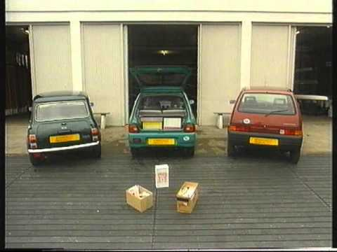 Test Mini, Fiat 500, Subaru Vivio (1993)