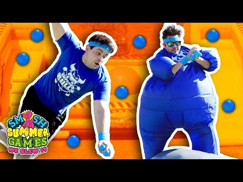 INFLATABLE WIPEOUT CHALLENGE (Smosh Summer Games)