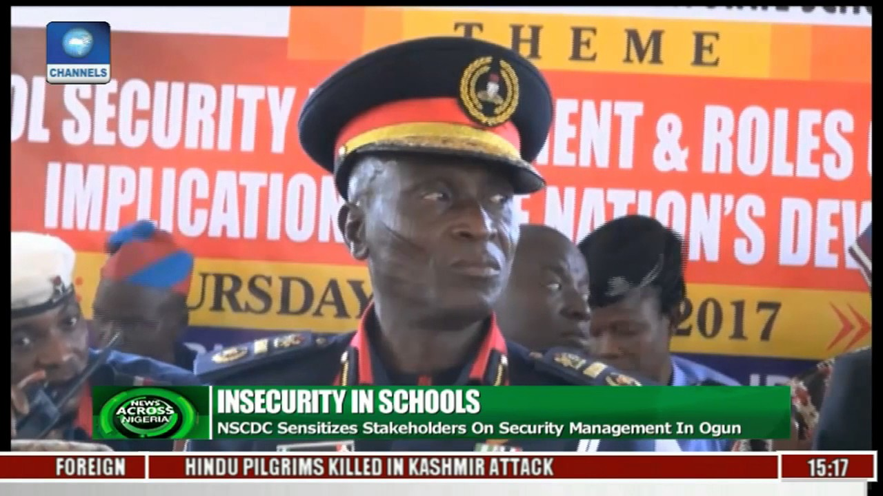 News Across Nigeria: NSCDC Sensitizes Students On Security Management In  Ogun