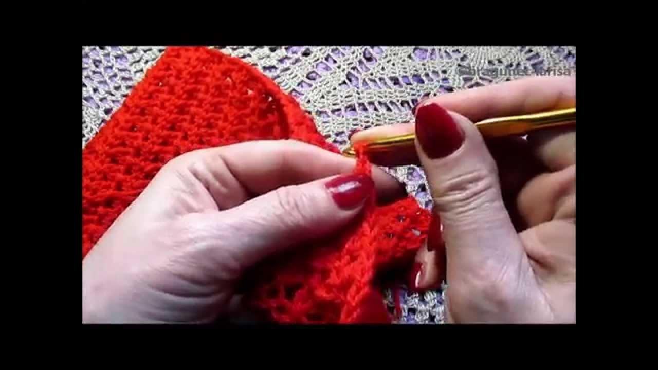 Вязание крючком шарфов видео