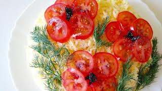 Шикарный салат на праздничный стол «КРАСНЫЕ МАКИ».Рецепт вкусного и сытного салата Готовим с Инной
