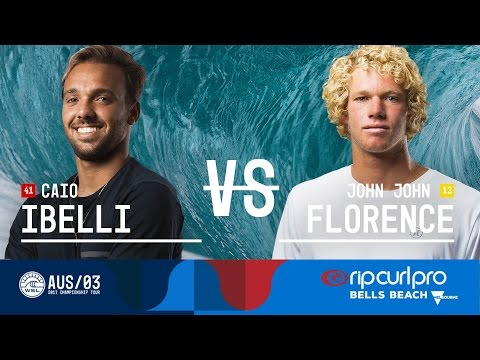 Caio Ibelli vs. John John Florence - Semifinals, Heat 1 - Rip Curl Pro Bells Beach 2017