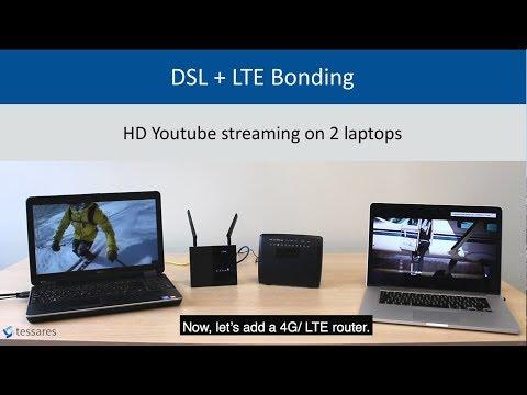 Live demo -  DSL + 4G/LTE Bonding by Tessares