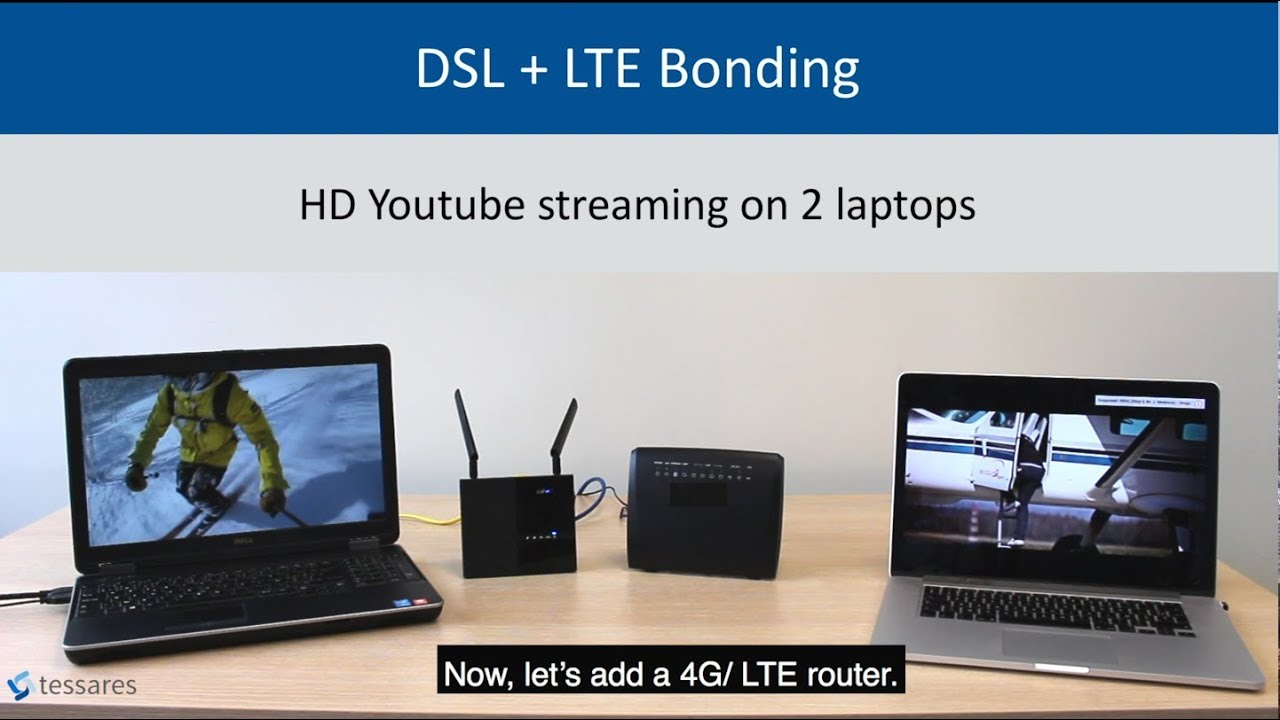 Demo - DSL + 4G/LTE Bonding by Tessares - Tessares - Seamless Multipath Connectivity