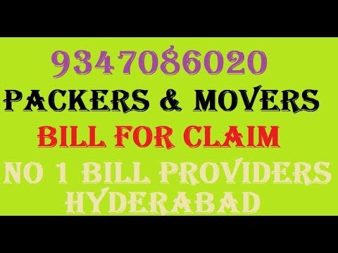 Packers And Movers Bill Format Pdf