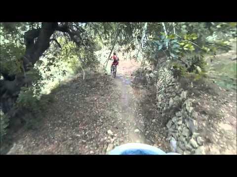 Passejant per el circuit BTT de Beniarbeig: tobogans a tope...!!!