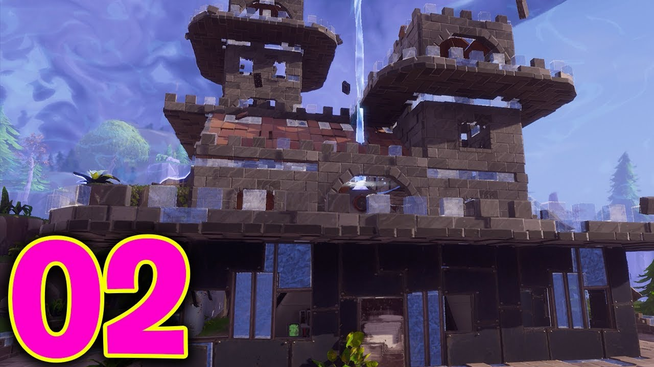 Building mega castles fortnite save the world part 2 for How to save to build a house