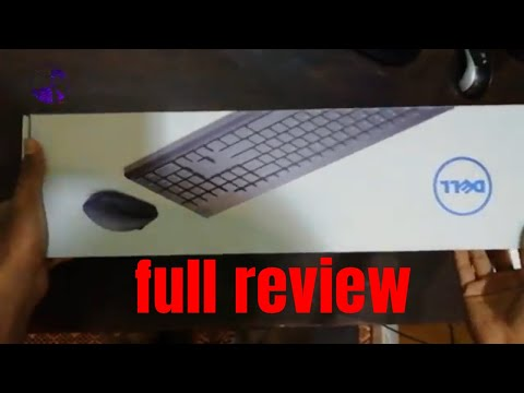 Dell KM117 Wireless Keyboard Mouse best Dell Keyboard Mouse Unboxing review 2k18 - HINDI