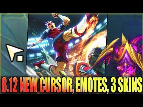 NEW CURSOR, ALL 3 NEW SKINS, EMOTE BUBBLES - Biggest Changes Patch 8.12 - League Of Legends