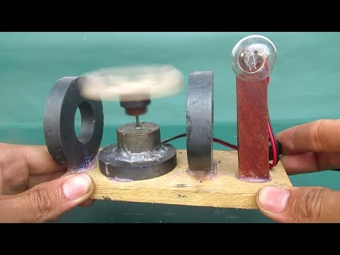 How to make free energy light bulbs with magnets motor work 100% - Science projects DIY easy