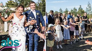 Primary school teacher, 28, walks down aisle with 20 of her students  | ABS US  DAILY NEWS