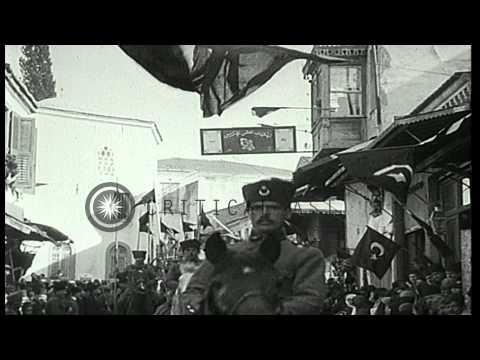 Mustafa Kemal Pasha (Ataturk) is acclaimed in Ismir, Turkey HD Stock Footage