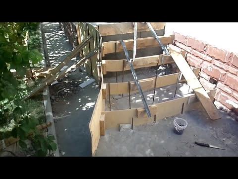 ИЗГОТОВЛЕНИЕ бетонная лестница своими  руками! ОТДЕЛКА бетонной лестницы в доме Монолитные лестницы