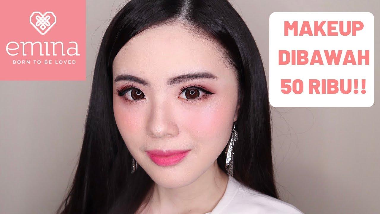MAKEUP DIBAWAH 50 RIBU!! EMINA ONE BRAND TUTORIAL + REVIEW (TERLENGKAP)