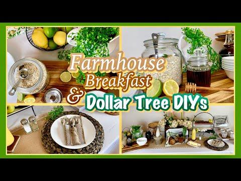 Farmhouse DIY Kitchen Dining Decor | Farmhouse Breakfast Brunch Buffet