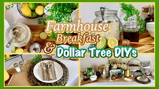Farmhouse DIY Kitchen Dining Decor | Farmhouse Breakfast Brunch Buffet