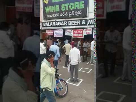 Corona Virus - COVID19 - Wine Shop Hyderabad Clever Funny Pr