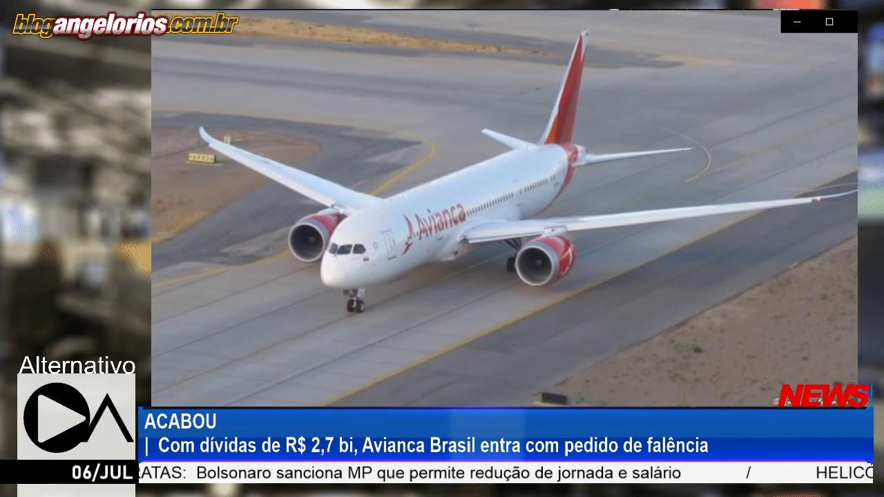 ACABOU: Com dívidas de R$ 2,7 bi, Avianca Brasil entra com pedido de falência