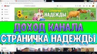Доход канала Страничка Надежды на Youtube