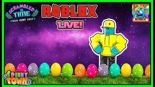 Roblox #101 | QUICK STREAM | Egg Hunt 2019 (Scrambled In Time) | LIVE | (sjk livestreams #326)