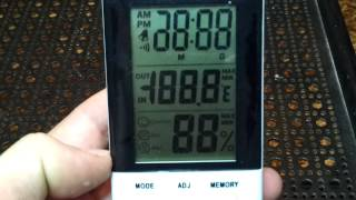 обзор будильника , термометра,часов,гидрометра