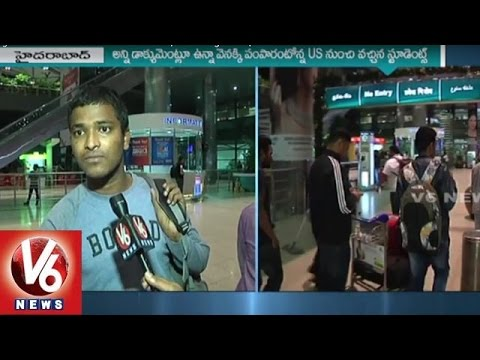 2 Telugu Students sent back from America | US Immigration | V6 News