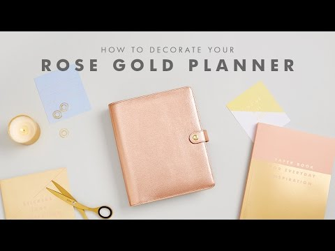How to Decorate your kikki.K Rose Gold Planner