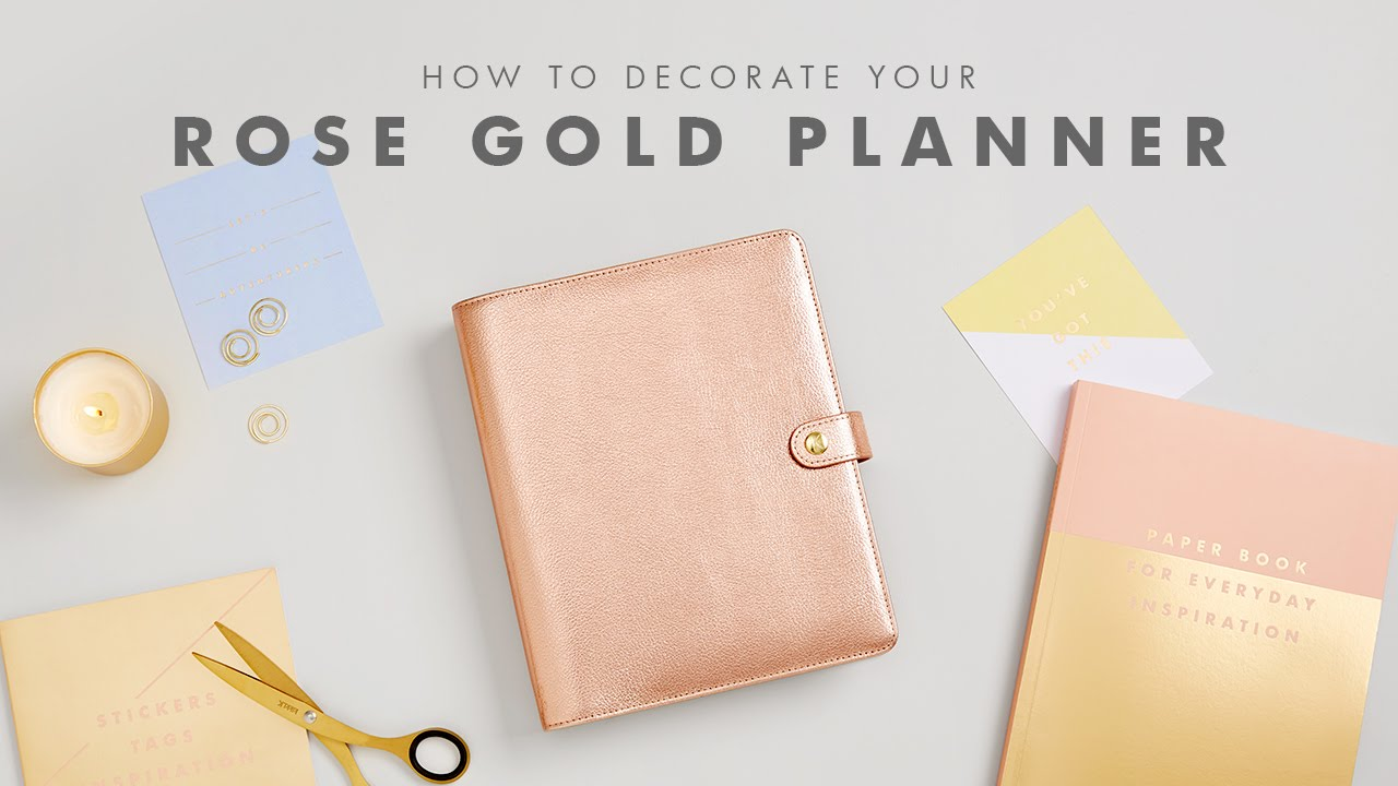 How To Decorate Your Kikki K Rose Gold Planner Youtube