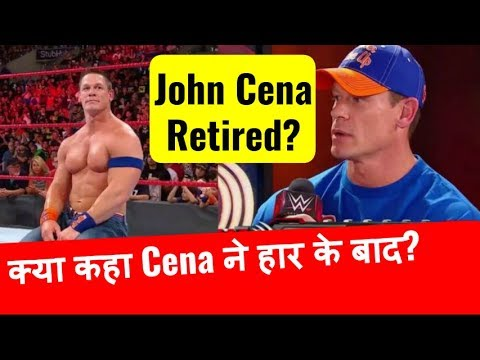John Cena Retired : Cena's Statement After losing to Roman Reigns At No Mercy John raw talk hindi