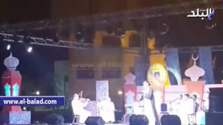 بالفيديو.. إقبال كبير على 'الإنشاد الدينى' بساحة 'الهناجر'