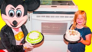 CAKE Challenge the Assistant + Mickey Mouse + Minnie + Doc Cake Boss Video Challenge