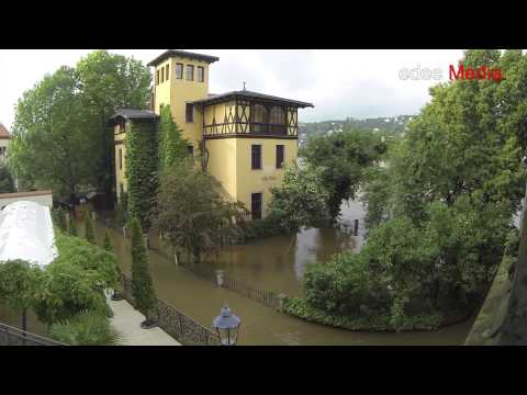 Dresden 4th June 2013 Flood at 773 cm