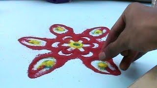 rangoli making art !!