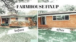 FARMHOUSE FIXUP: EPISODE 1: DIY EXTERIOR HOUSE PAINTING: DIY HOME IMPROVEMENT