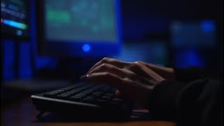 Close-up Shot Of Female Hacker  Stock Video