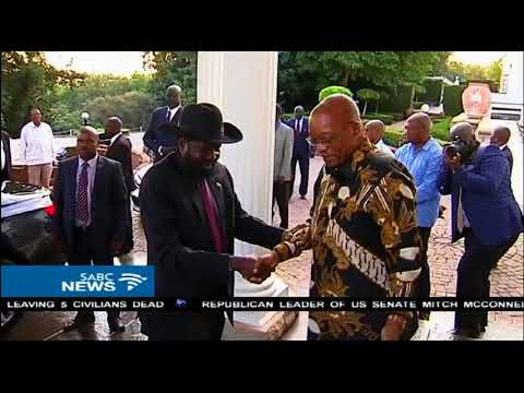 President Zuma hosts South Sudanese leader Salva Kiir