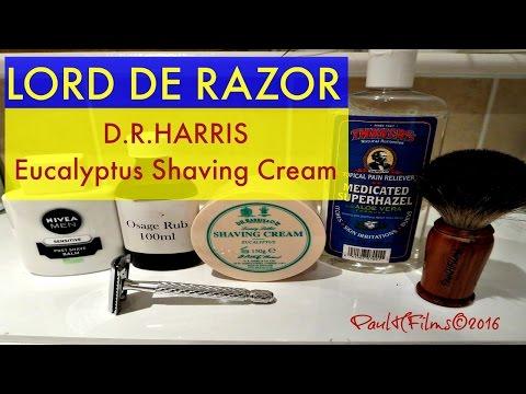 LORD DE Razor -  D.R Harris  Eucalyptus Shaving Cream