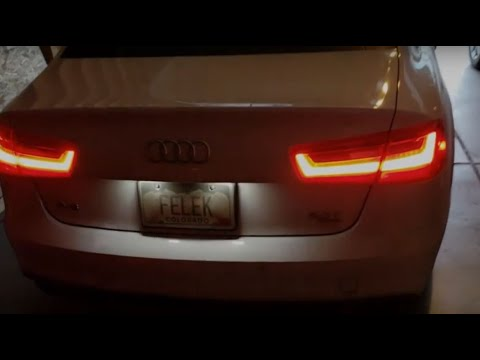 Audi A6 C7 tips and tricks - enable rear daytime running lights - DIY