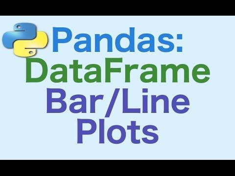 47- Pandas DataFrames: Generating Bar and Line Plots